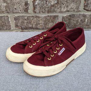 Superga Burgundy Sneakers
